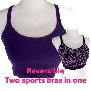 Reversible Purple Adjustable Sports Bra